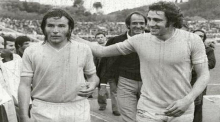 Oddi (a sinistra) e Chinaglia ai tempi della Lazio.