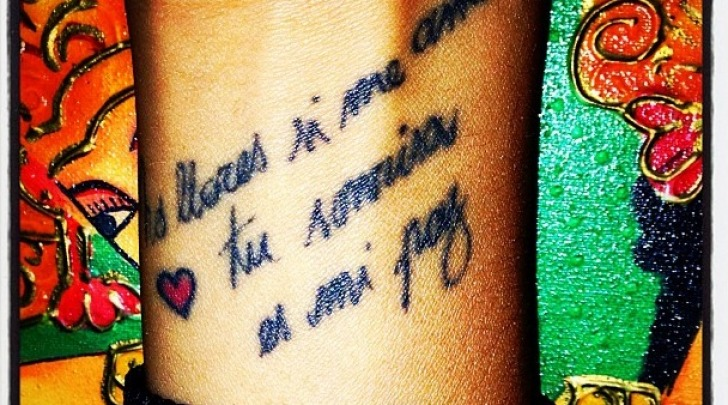 Tatuaggio Belen Rodriguez