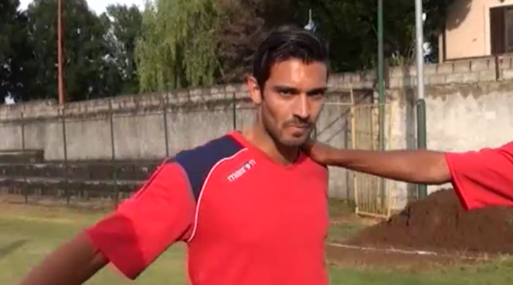 Lorenzo Del Pinto in allenamento