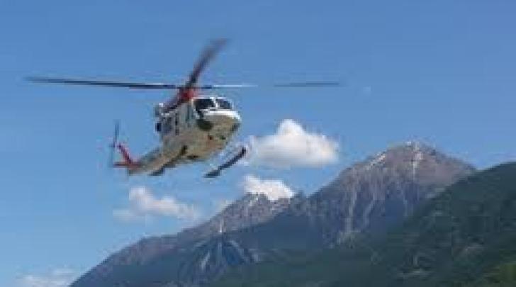 Soccorso alpino con elicottero
