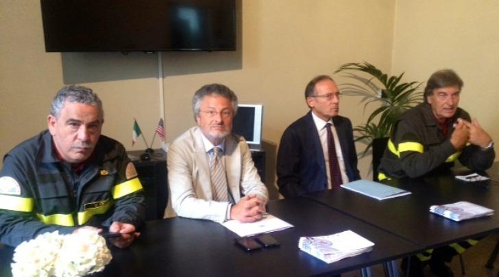 Conferenza stampa cittadinanza onoraria corpo dei Vigili del Fuoco