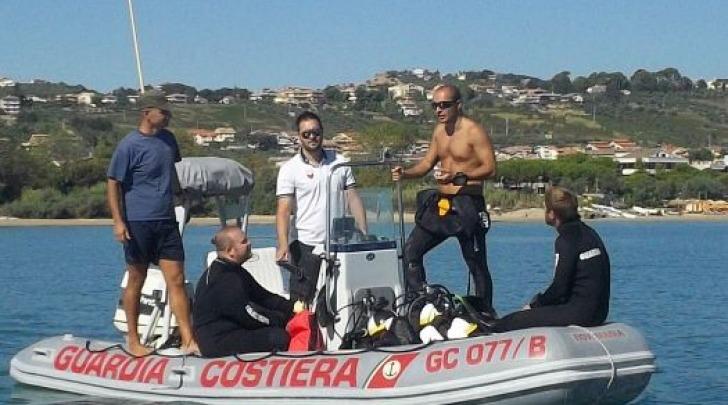 Il nuovo natante con il nucleo sommozzatori Guardia Costiera