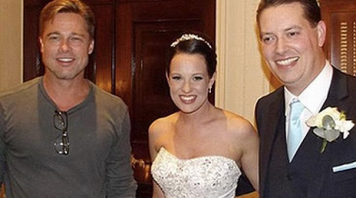 Brad Pitt al matrimonio di Abi e Daniel