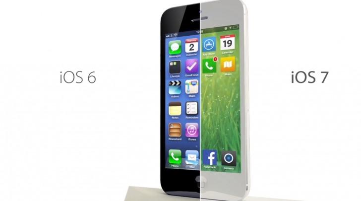 iOS 7 vs iOS 6 apple