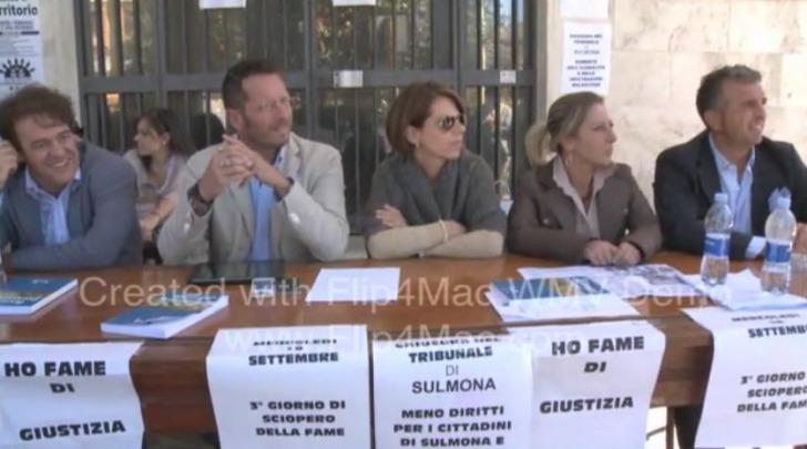 Avvocati Sulmona sciopero della fame