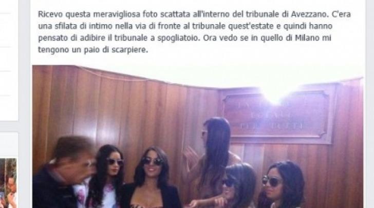 modelle seminude Tribunale Avezzano