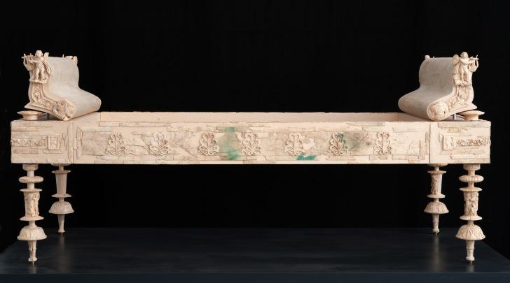 Letto funerario d'osso- periodo Augusto