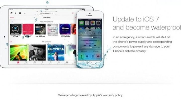 Fake waterproof iOS 7
