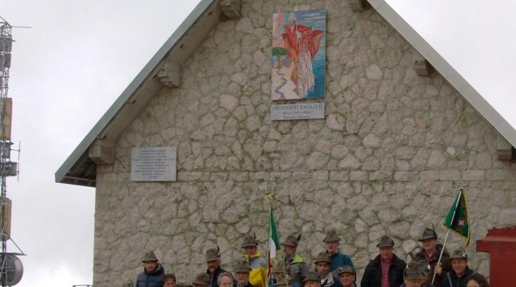Inaugurazione mosaico Papa