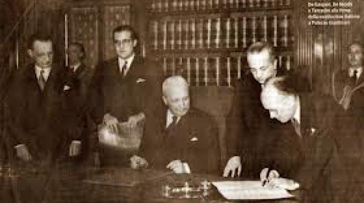 La firma della Costituzione, il 27 dicembre 1947