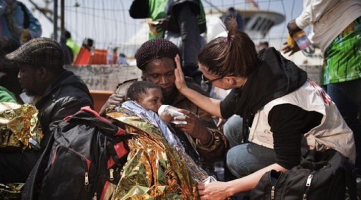Foto di Medici Senza Frontiere a Lampedusa