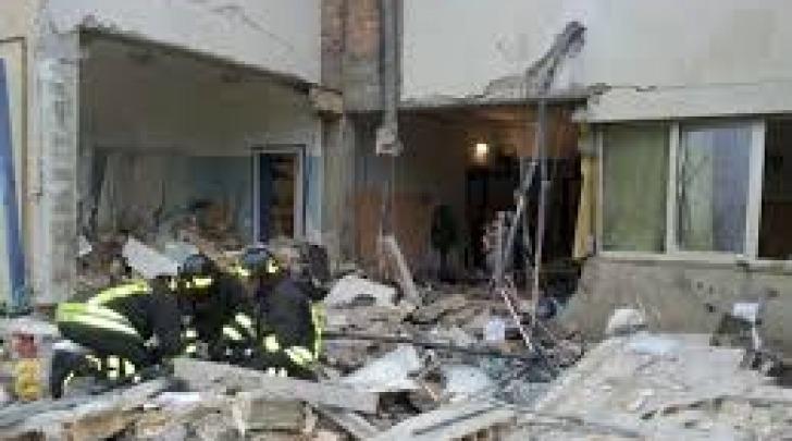 L'asilo di Piano d'Accio dopo l'esplosione