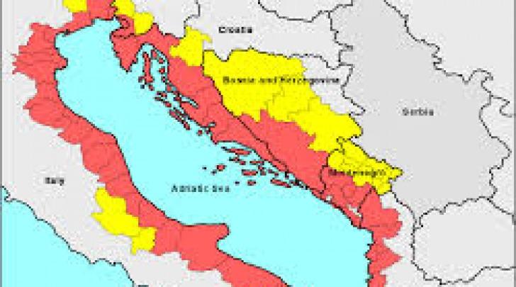 Mappa macroregione adriatica