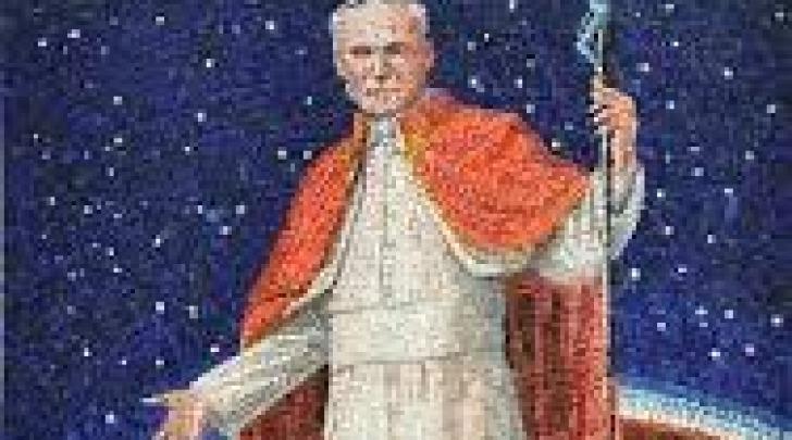 Il mosaico a papa Giovanni Paolo II