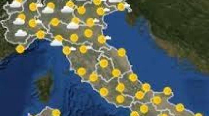 Piogge al nord, sole resto Italia