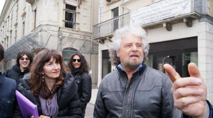 Enza Blundo e Beppe Grillo
