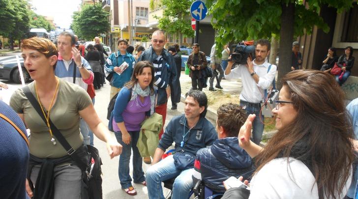 "Protesta di ""Carrozzine determinate"""