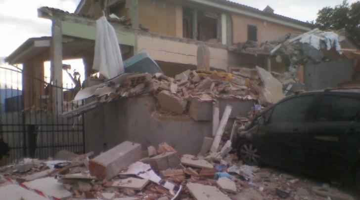 La villetta esplosa in contrada San Salvatore di Chieti
