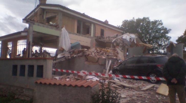 La villetta esplosa