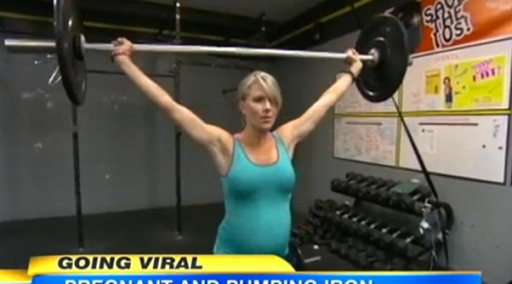 Bodybuilder incinta
