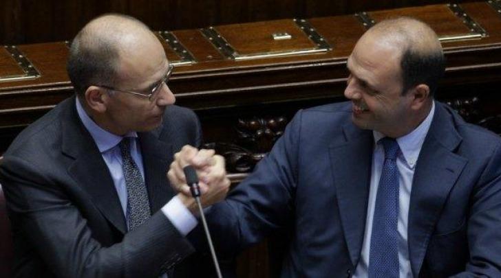 Enrico Letta e Angelino Alfano
