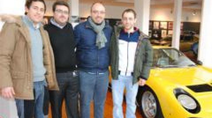 Nello stabilimento Lamborghini con  Giuseppe Nardacchione
