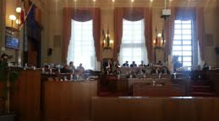 La sala consiliare del Comune di Pescara