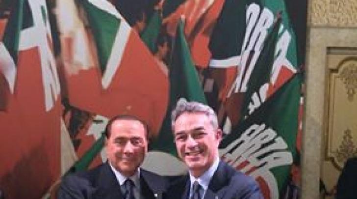 Nazario Pagano e Silvio Berlusconi
