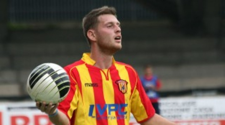 Ivan Pedrelli con la maglia del Benevento
