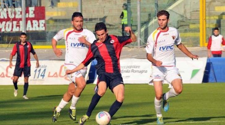 Frediani in azione col Benevento (foto dalla rete)