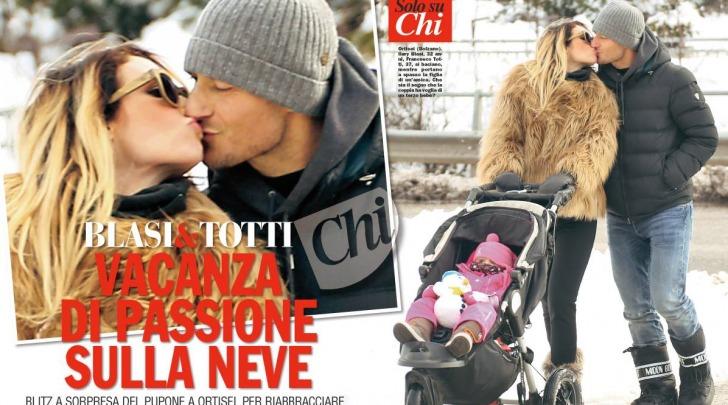 Blasi e Totti in vacanza a Ortisei