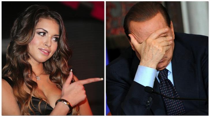 Silvio Berlusconi e Karima El Marough (Ruby)