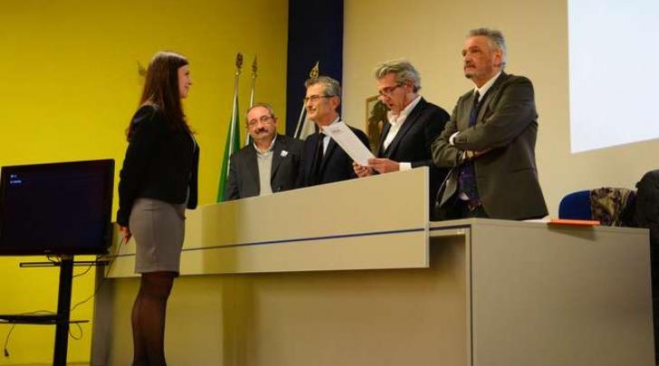 Elisabetta Ballarin consegue la laurea specialistica (Fotogramma)