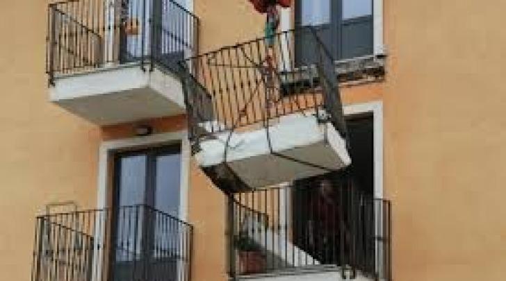 Balcone crollato