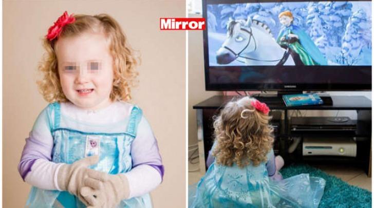 La piccola Gracie come la principessa di Frozen (Mirror)