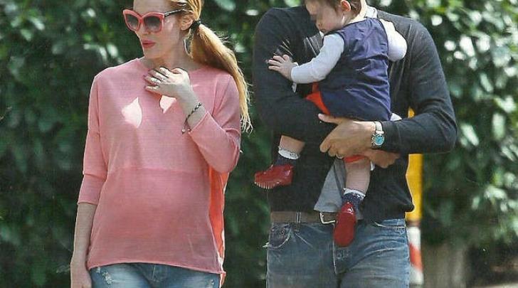 Luca Toni, la figlia Bianca e Marta Cecchetto incinta (Chi)