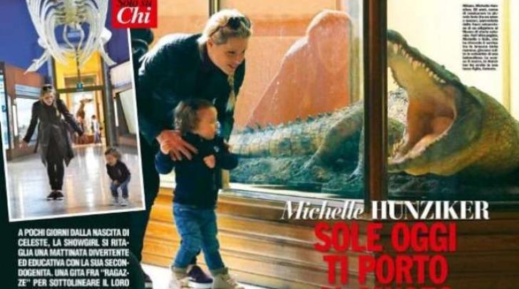 Michelle Hunziker e la figlia Sole (Chi)