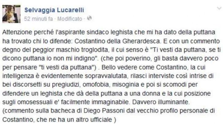 Il post di Selvaggia Lucarelli contro Costantino della Gherardesca
