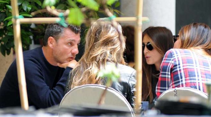 Bobo Vieri a pranzo con Cristina Buccino (Olycom)