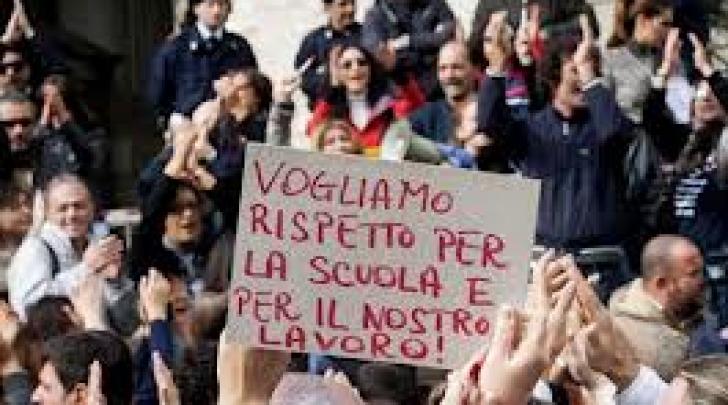 protesta insegnanti
