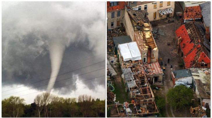 Tornado devasta Butzow, Germania