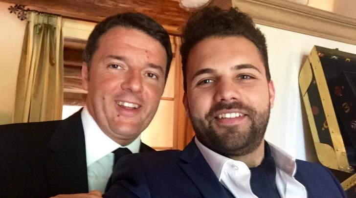 Aleandro Mariani ed il capo del governo Matteo Renzi