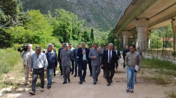 Discarica Bussi-commissione parlamentare rifiuti -foto ansa