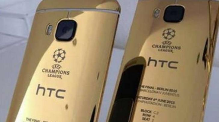 Il nuovo HTC One M9 in oro 24 carati