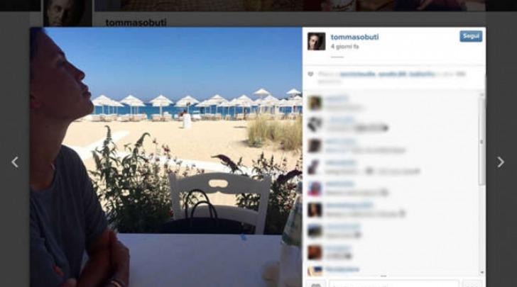 La foto di Claudia Galanti sul profilo Instagram di Tommaso Buti