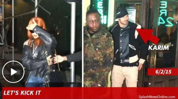 Rihanna, flirt con Karim Benzema