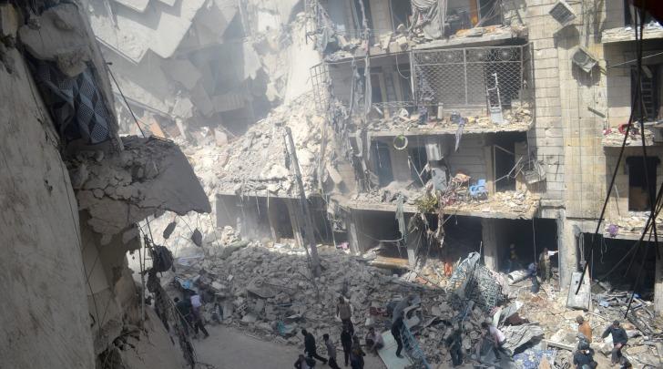 Siria bombardamento su Aleppo - foto infophoto