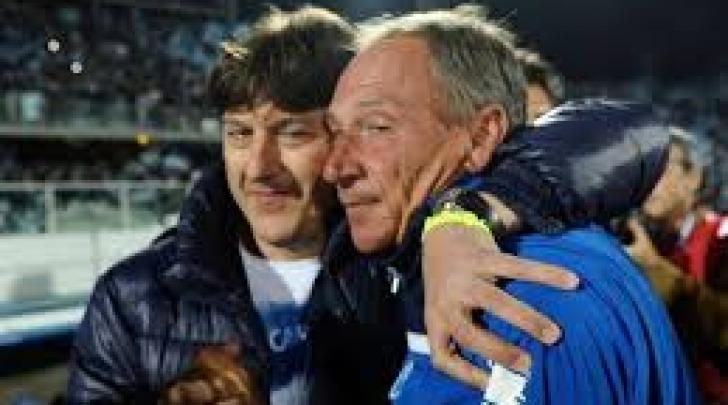 Daniele Sebastiani e Zdenek Zeman nella stagione 2011/12