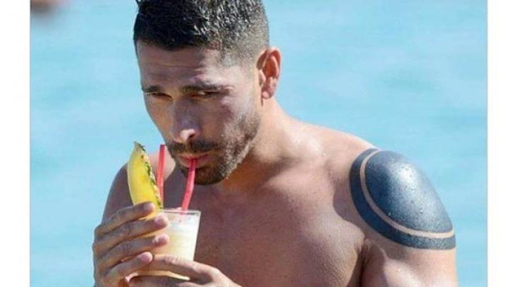 Marco Borriello al mare su instagram