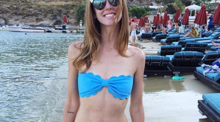 Chiara Ferragni sexy in bikini a Mykonos